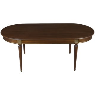 Mid 20th Century French Empire Oval Mahogany Dining Room Table