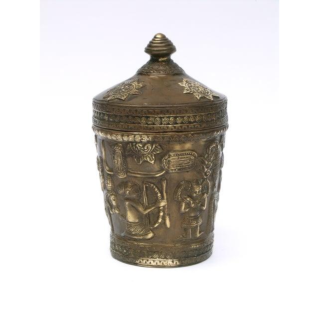 Decorative Indonesian Bronze Jar - Image 5 of 6