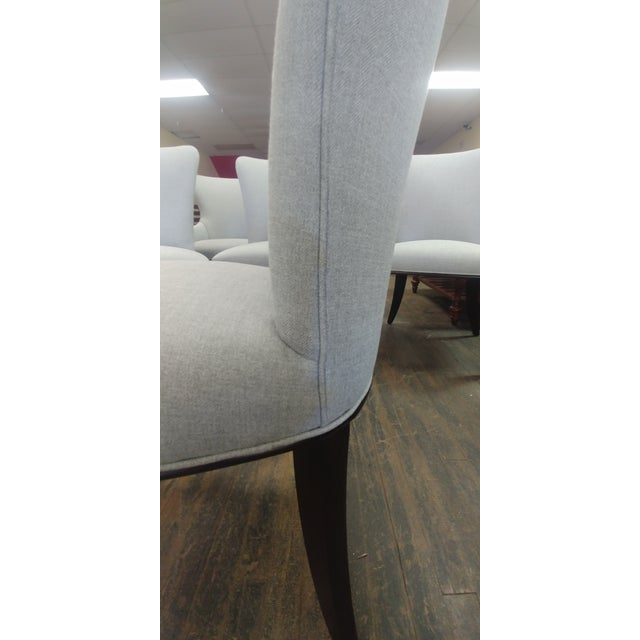 2010s Henredon Furniture Barbara Barry Bowmont Light Grey Dining Chairs - Set of 6 For Sale - Image 5 of 13