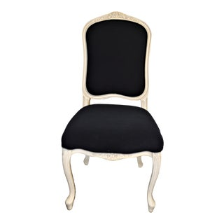 Traditional Louis XV Style Painted Dining Chair For Sale