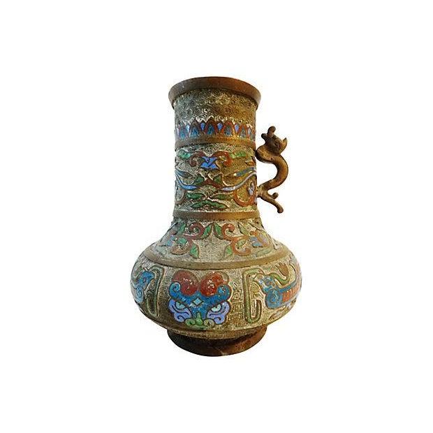 Old Japanese Champleve Vase Chairish