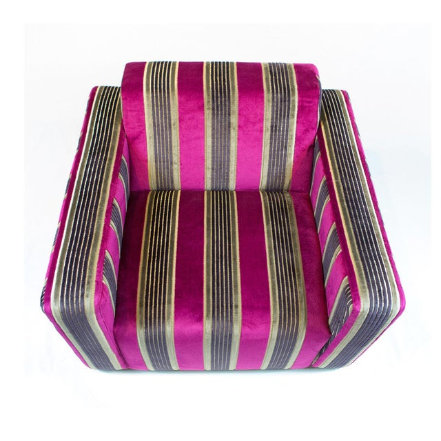 British Airways First Class Striped Club Chair - Image 6 of 10