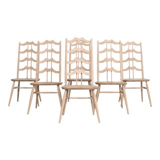 1960s Arts and Crafts Dining Chairs - Set of 6 For Sale