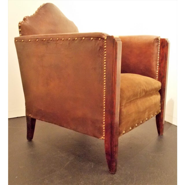 Vintage French Leather Club Chair - Image 2 of 8