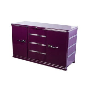 Luxe Art Deco Sideboard in Lilac Preview