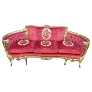 Vintage Carved Sofa For Sale