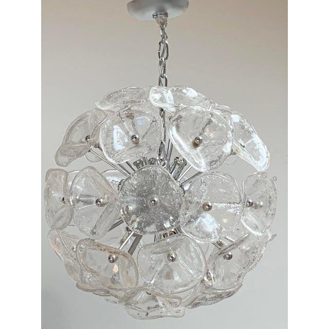 "20"" Fiori Murano Glass Pendant Orb Ceiling Light For Sale - Image 11 of 11"