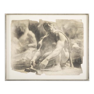 1970s Chalk on Paper Attributed to Thomas P. Anuskuetz For Sale