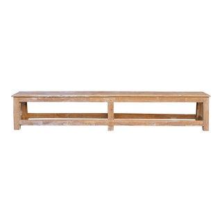 Long Scandinavian Antique Farmhouse Bench For Sale