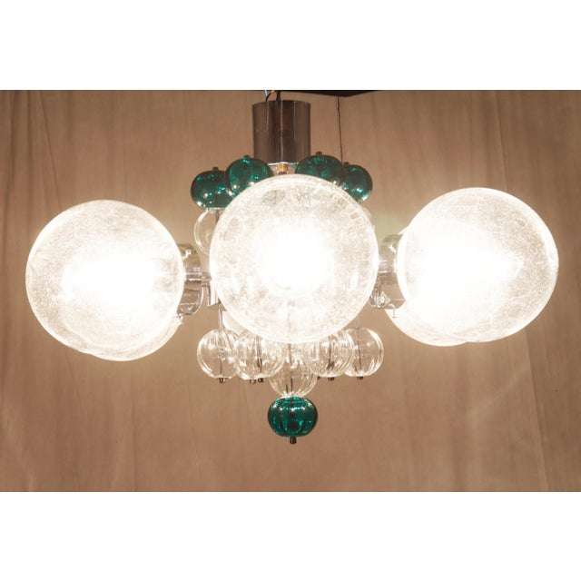 Large Chandelier with Hand Blown Ball Lights by Kamenicky Senov, 1970s For Sale - Image 4 of 11