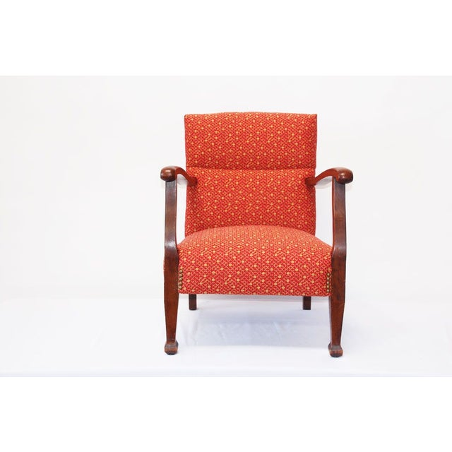 Traditional 1930's Kid's Red Armchair For Sale - Image 3 of 4