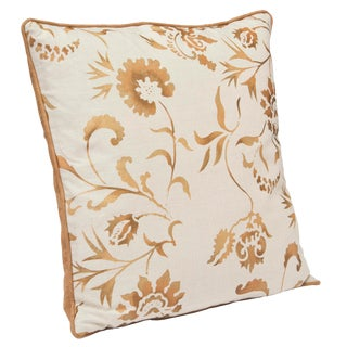 """Eden"" Copper Hand Printed 20"" Decorative Pillow"