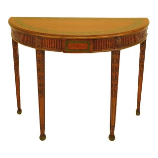 Maitland Smith Adam Style Paint Decorated Console Table