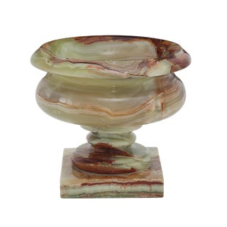 Marbled Green Onyx Planter