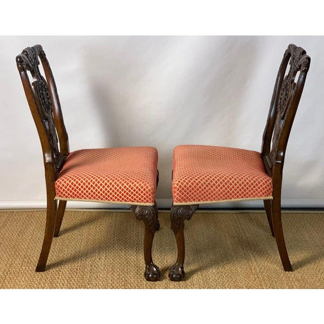 Chippendale Mid-19th Century Chippendale Style Carved Mahogany Side Chairs For Sale - Image 3 of 13