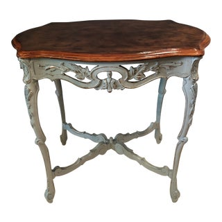 French Carved Accent Table For Sale