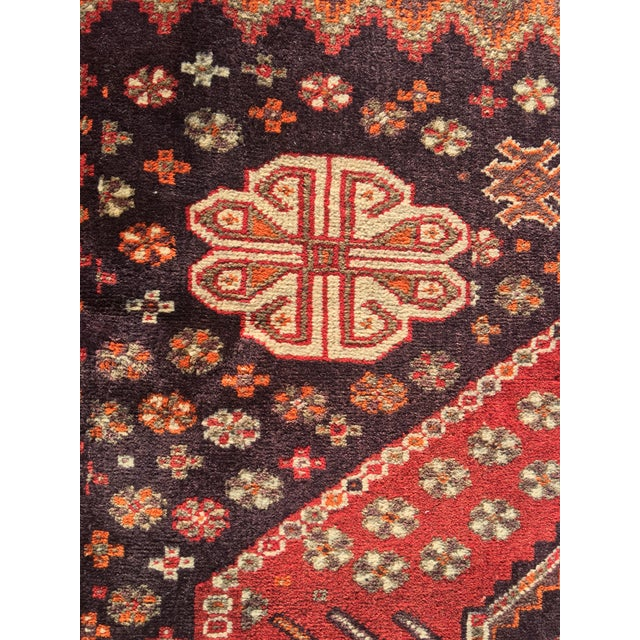 """Vintage Persian Qashqai Area Rug - 4'10"""" x 7'10"""" For Sale - Image 5 of 11"""