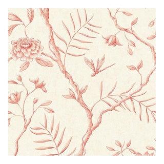 "Lewis & Wood Jasper Peony Rose Bespoke Extra Wide 52"" Botanic Style Wallpaper For Sale"