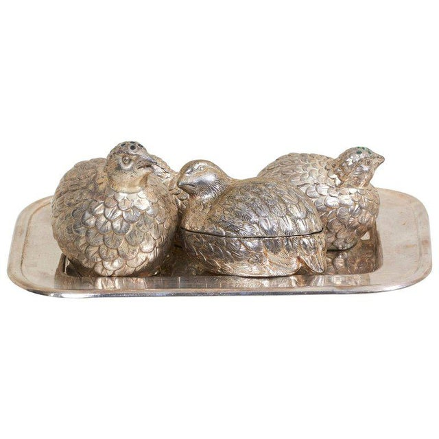 Silver Wonderful Set of Salt and Pepper Shakers and Bowl by Mauro Manetti For Sale - Image 8 of 8