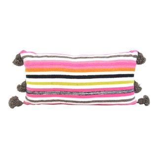 Moroccan Wool Pom Pom Pillow
