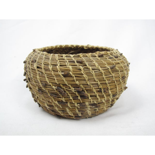 20th Century Native American Pine Needle Basket For Sale - Image 4 of 4