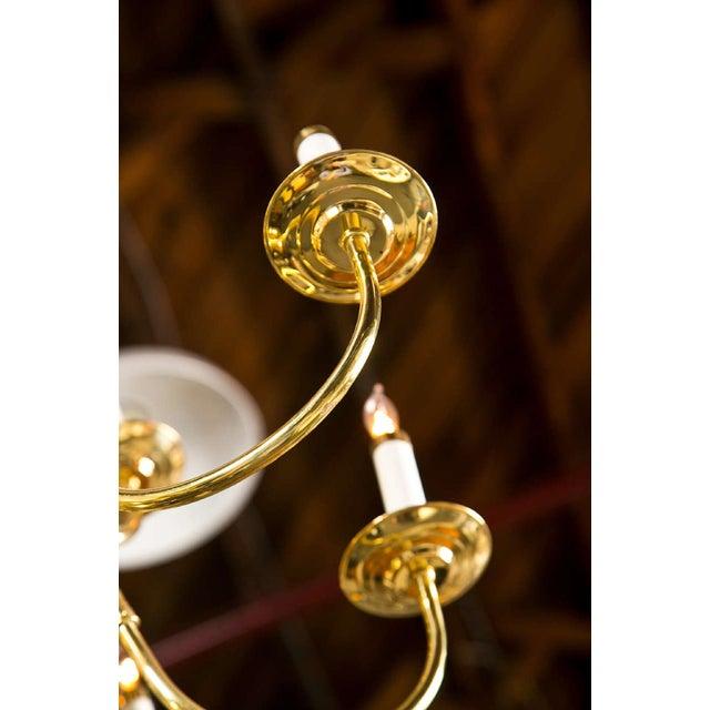 Twelve Light Brass Ball Form Chandelier - Image 6 of 8