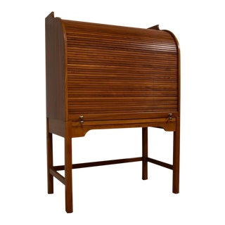 Andreas Hansen Solid Teak Danish Roll Top Desk