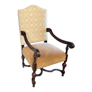 Fremarc Designs Carved Provence Arm Chair For Sale