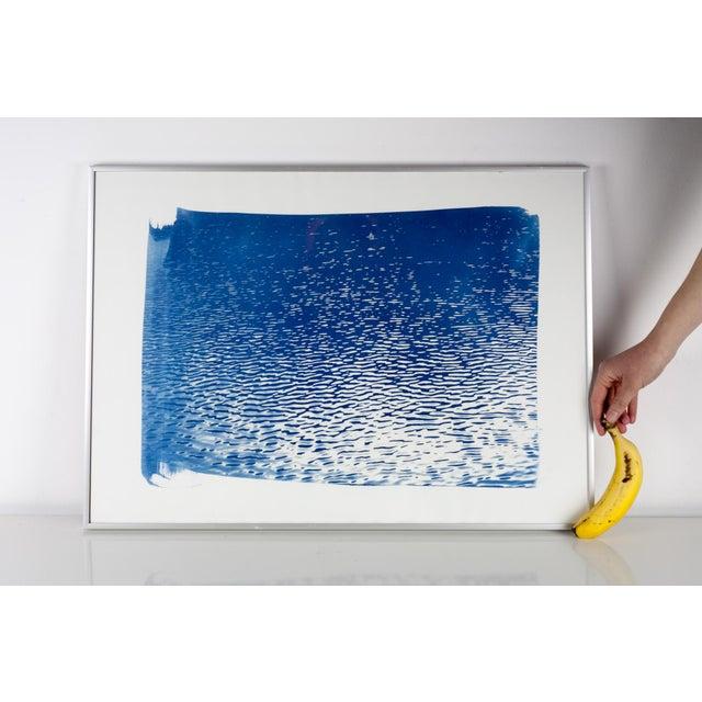 """Blue Lake Ripples"" Cyanotype Print - Image 3 of 5"