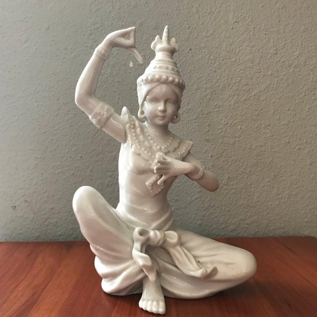 Ceramic Vintage Blanc De Chin Thai Siam Porcelain Figurine For Sale - Image 7 of 7