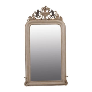 French 19th Century Carved Oak Louis Philippe Mirror For Sale