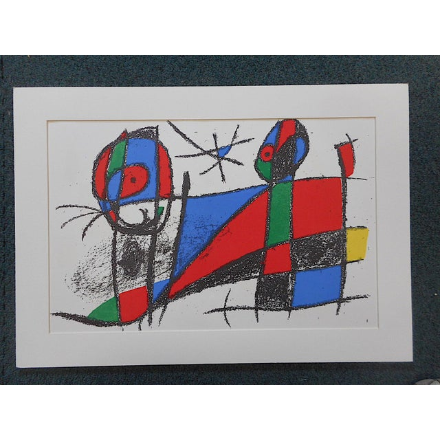 Fabulous large color lithograph by Joan Miro (Spain, France 1893-1983)from an un-numbered edition of 5000. This is an...