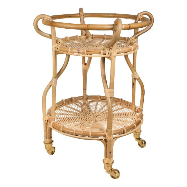 Mid-Century Modern Franco Albini Fratellino Trolley - Natural For Sale - Image 3 of 3