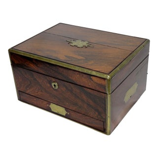Late 19th Century Antique Rosewood Box For Sale
