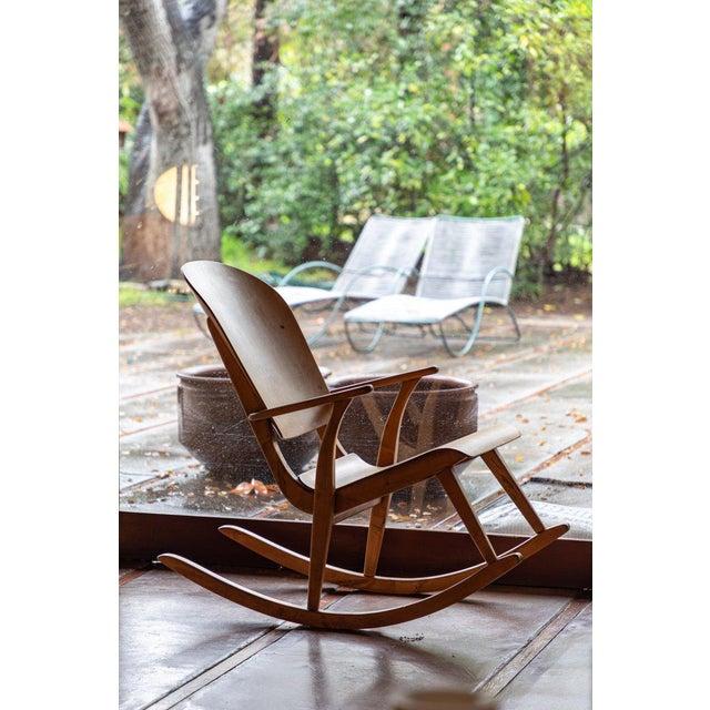 1940s Vintage Ilmari Tapiovaara Rocking Chair For Sale - Image 12 of 13