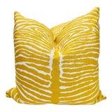 """Image of Brunschwig & Fils """"Le Zebre Saffron"""" 22"""" Pillows-A Pair For Sale"""