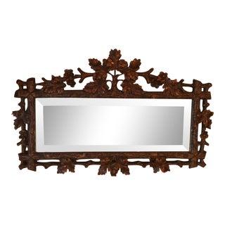 Black Forrest Faux Bois Accent Mirror For Sale