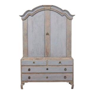 Swedish 18th Century Period Rococo Linen Press For Sale
