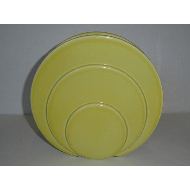 1930s Art Deco TAC Circlet Disc Vases Trenton Potteries - Image 8 of 9