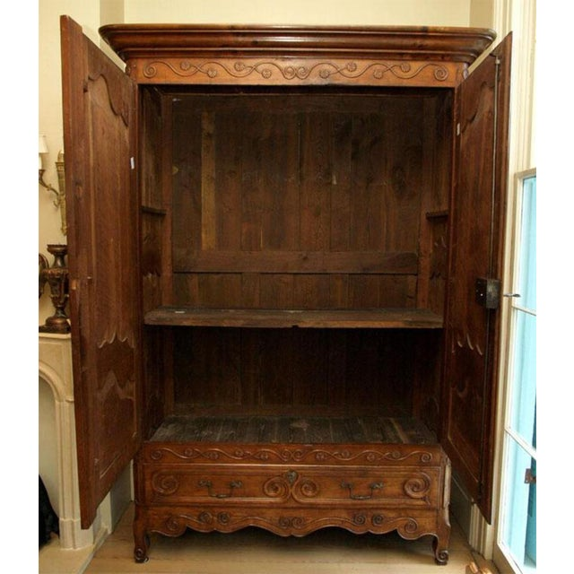 Louis XV Louis XV Walnut Armoire For Sale - Image 3 of 10