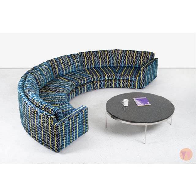 1950s Milo Baughman Curved Sectional Sofa For Sale - Image 5 of 12