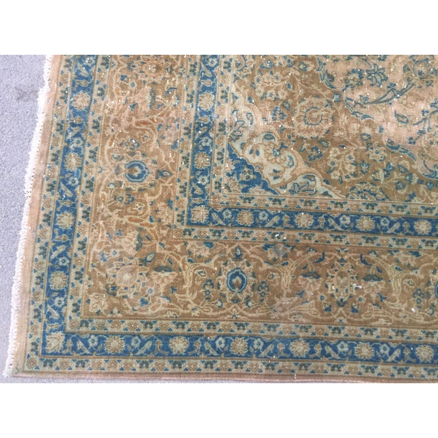 Textile Vintage Antique Handmade Oversize Tribal Persian Rug - 9′10″ × 12′1″ For Sale - Image 7 of 12