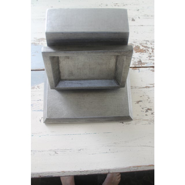 Asian Modern Port 68 Jonathan Silver Leaf Wall Brackets - a Pair For Sale - Image 9 of 11