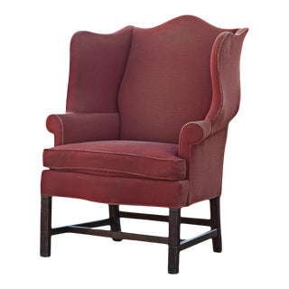 Late 20th Century Hickory Townsend Wing Back Chair For Sale