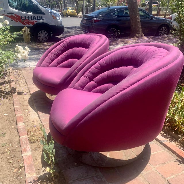 Vintage Vladimir Kagan Crescent Chairs, Unmarked - a Pair For Sale In Los Angeles - Image 6 of 13