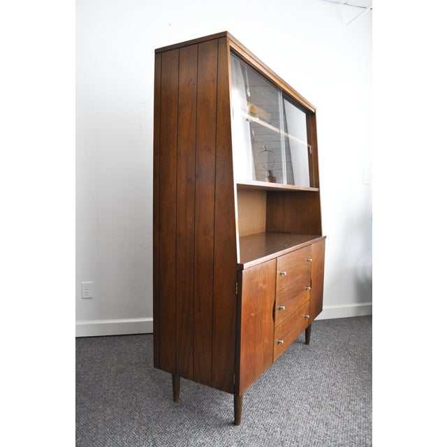 1960s Stanley Furniture Mid-Century Modern Hutch For Sale - Image 5 of 11