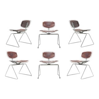 Beaubourg Wire Chairs by Michel Cadestin for Centre Pompidou For Sale