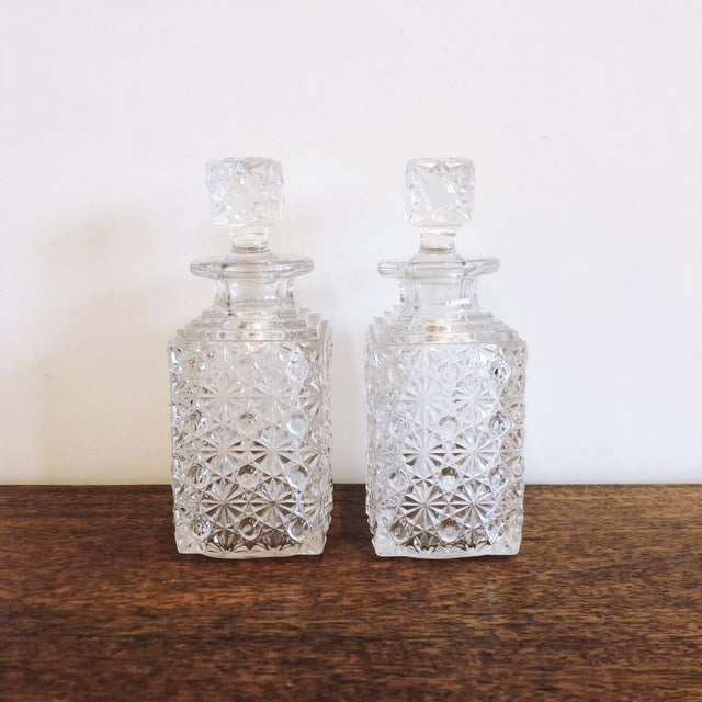 Transparent Glass Decanters, Set of 2 For Sale - Image 8 of 8