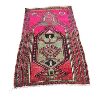 1970s Vintage Mount Nemrut Tribal Prayer Rug - 2′10″ × 4′1″ For Sale