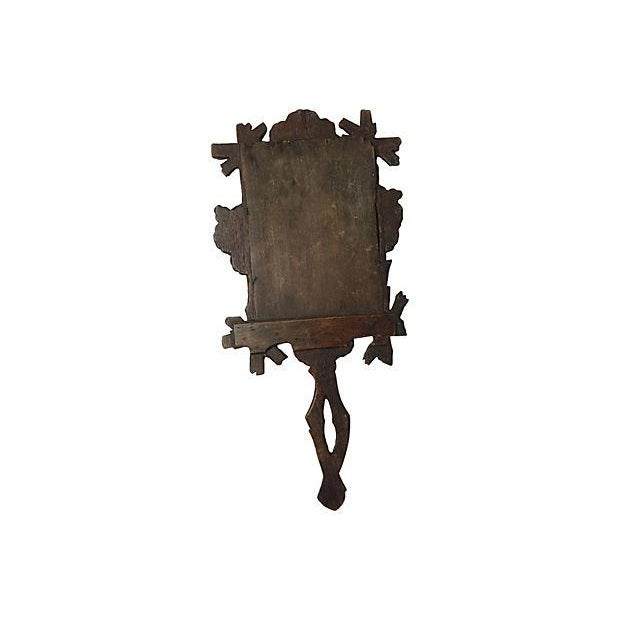 Black Forest Carved Hand Mirror - Image 2 of 3